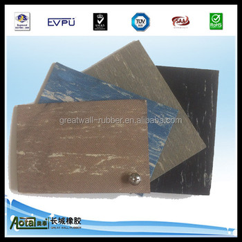 blue black color high quality best price Aotai anti-slip flooring mat marblesied rubber matting with ISO9001 certificate