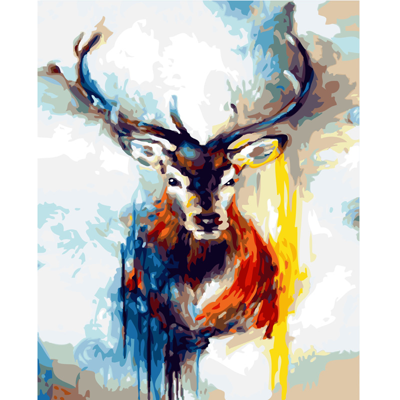 Abstract art painting hand painted elk photos digital oil paintings