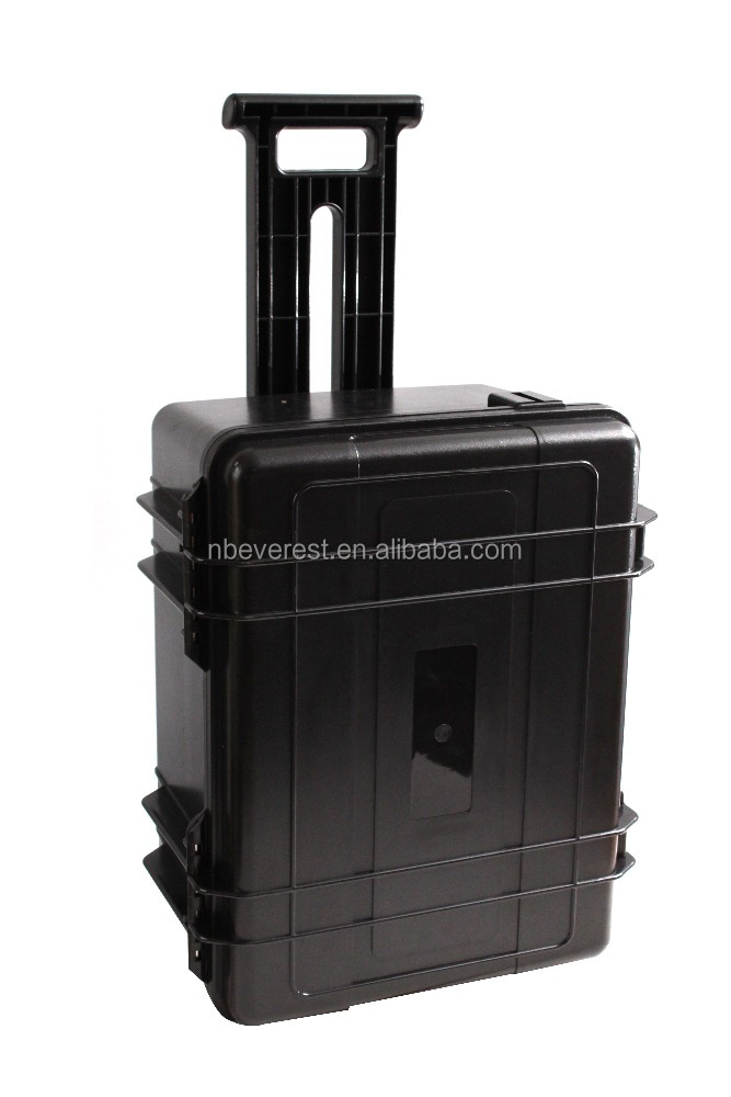ABS Black waterproof plastic hard equipment case tool box with wheels