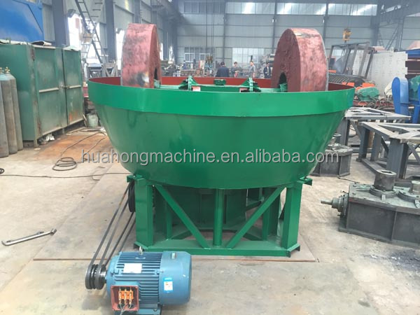 Gold Wet Pan Mill for gold,silver metal ore grinding