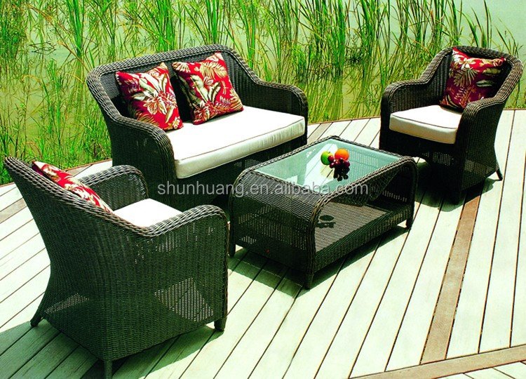 Hot sale outdoor rattan wicker furniture sofa sets leisure round chair