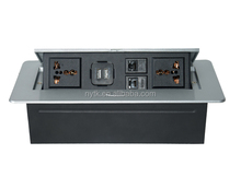 conference table/meeting desk/furniture insert socket outlet with USB HDMI VGA TEL DATA MIC XLR AV