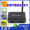 AC WIFI Enybox x1 external antenna Quad core android tv box free channel tv box with Amlogic s905x