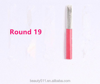 Wholesale High quality Disposable Professional Manua eyebrow Tattoo microblading needle Tattoo tools R19