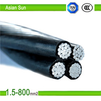 Duplex/Triplex/Quadplex alumium conductor XLPE insulated 95mm abc cable