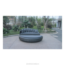 Outdoor Round Rattan Day Bed Sectional Sofa Daybed