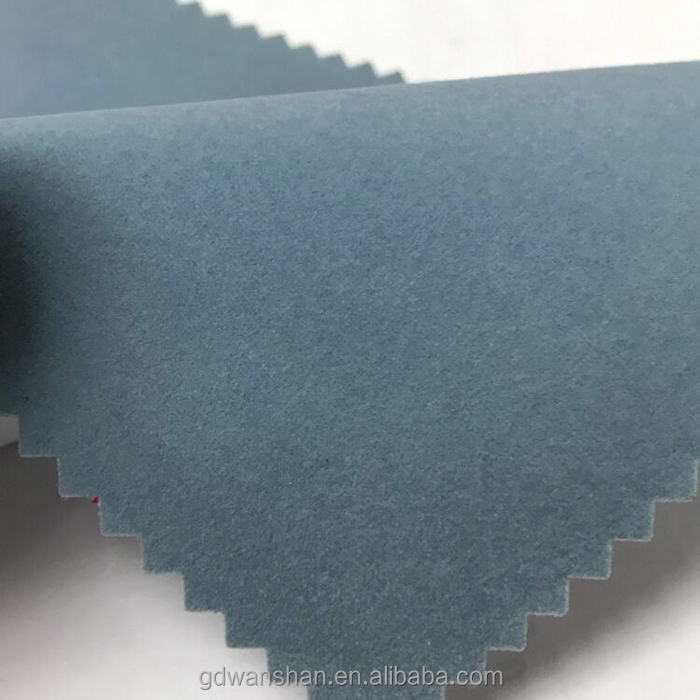 "AT-5014 56"" Width Powderblue Flocked fabric textile"
