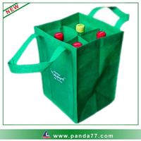 Cheap non-woven bag with wine bottle holder