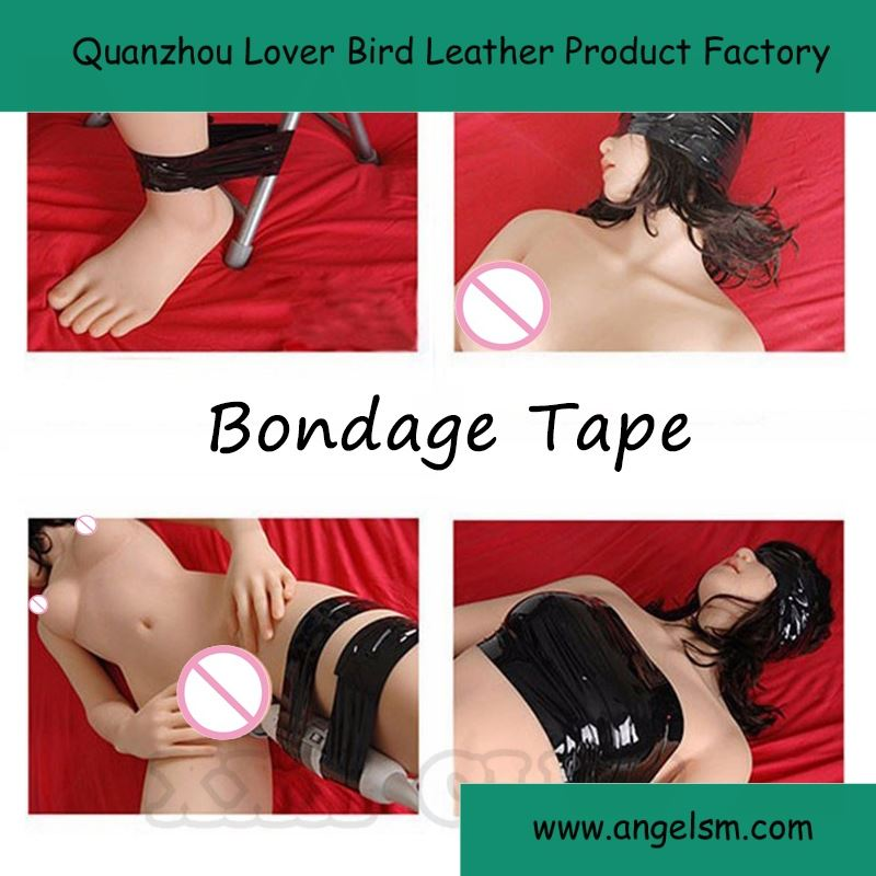 Discount No Glue Black/ Red/ Pink Fun Restraint Bondage Tape Fetish Bondage Harness For Sexy Games Body Binding Sealing Tape