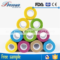 Own Factory Direct Supply Non-woven Elastic Cohesive Bandage x ray detectable gauze roll