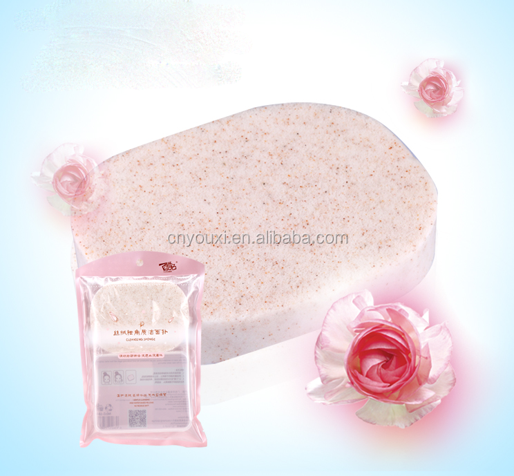 Velvet facial cleanser/ Cosmetics cleaning sponge for face