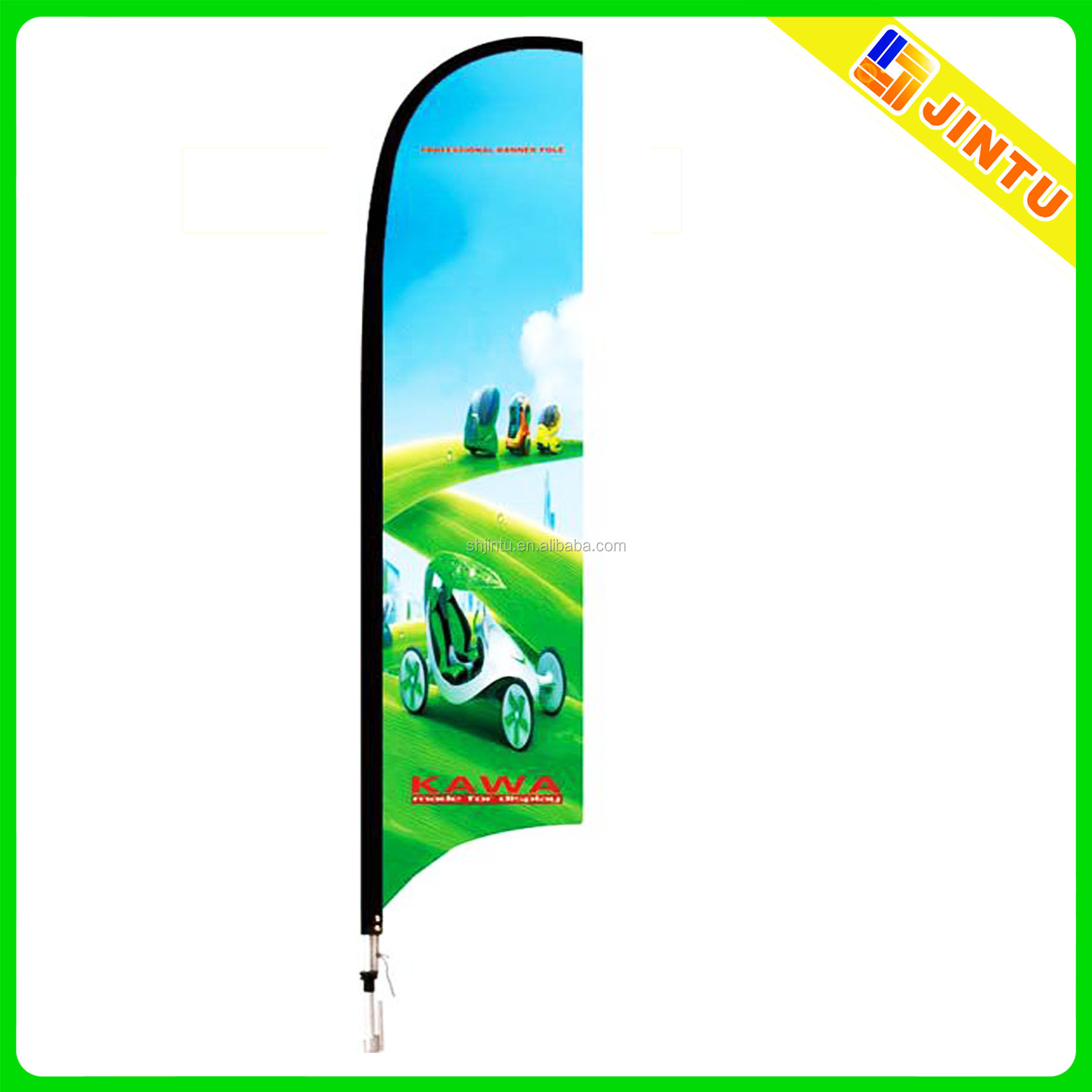 Outdoor beach wind flag banner with stand for advertising