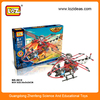 205PCS Electric Assemblage Attack Helicopter Model Enlighten Toy For Boy Building Airplane Model Kits