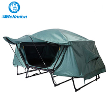 210D+UV+PU Iron Pole Folding Bed Camping Tent With Bed/Tent Cot
