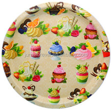 2016 New item promotion gift round cheap fruit design of plastic dinner plate