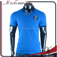 2017 New Design OEM 100% Cotton Blank Mens Polo Collar T Shirt