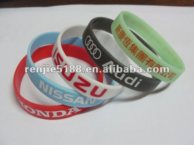 Factory directly best selling cheap custom Print Silicone Bracelets