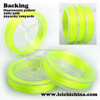 fluorescent Yellow braided backing line fly fishing line