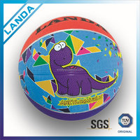 mini cartoon rubber basketball for kids basketball for advertising