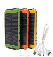 8000mah Portable Waterproof solar power banks Dual-USB Solar Battery Charger for Cell Phone