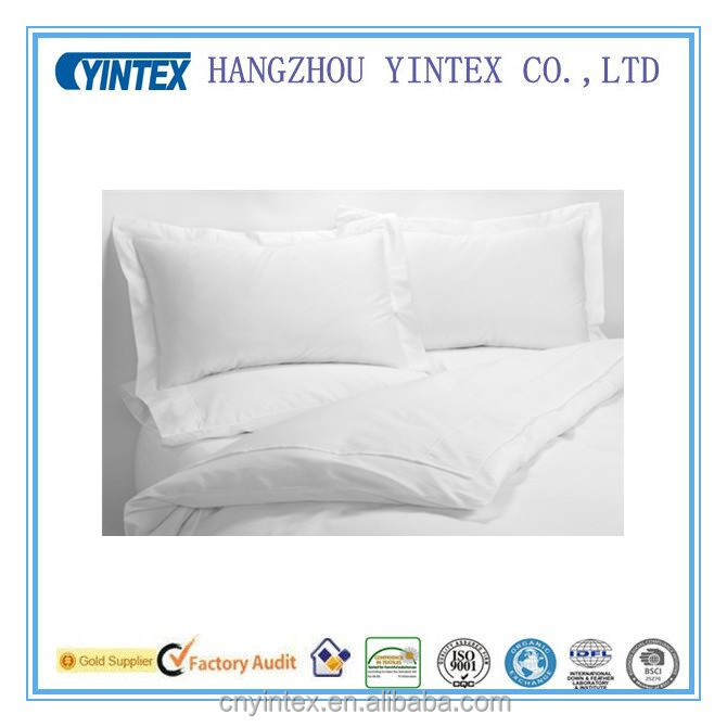 quality manufacture plain white bedding collection flat bedding sheet/pillowcase/quilt/bed runner