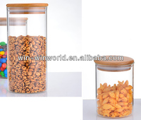 Home Holder Customized 1 Liter Clear Glass Storage Containers