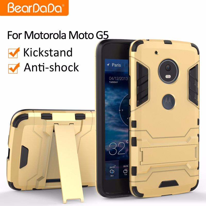 Attractive Appearance Shockproof kickstand phone case for <strong>motorola</strong> moto g5