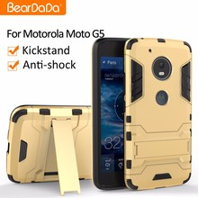 Attractive Appearance Shockproof kickstand phone case for motorola moto g5