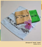 High quality newest jacquard bamboo face towel hand towel