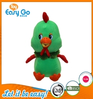 Customized GMP 2016 new type green cute chicken soft toys