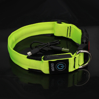 2019 New Pet Product household Nylon Led USB Rechargeable Pet Dog Glowing Collars