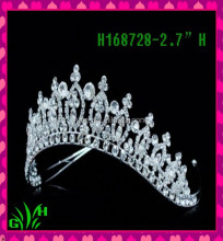 New designs pageant star fashion jewelry crown rhinestone atiara and crown