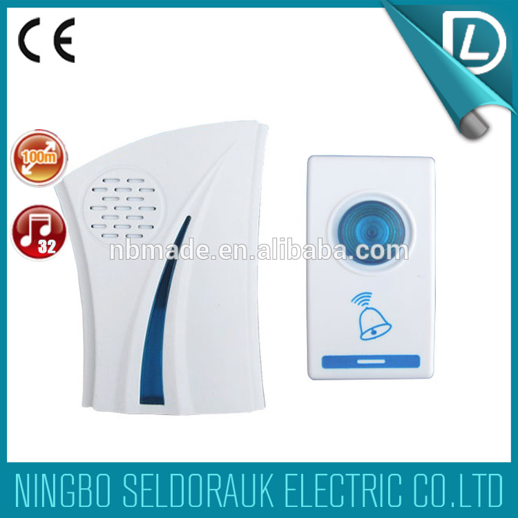 Rich experience in OEM voice 32 melodies 100m AC/DC wireless novelty doorbell