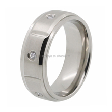 Stone inlay spikes stainless steel men ring , stainless steel championship ring