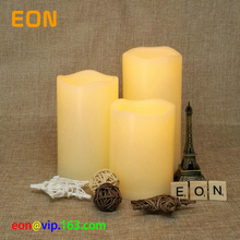 C832 Very Cheap Home Decor 3 pack Pillar flickering LED Flameless Candles for WALMART