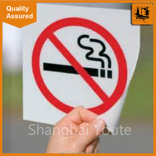 No smoking static cling vinyl film for door window,static cling decal window graphic