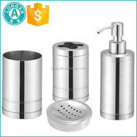 hotel bathroom accessories stainless steel 4 sets