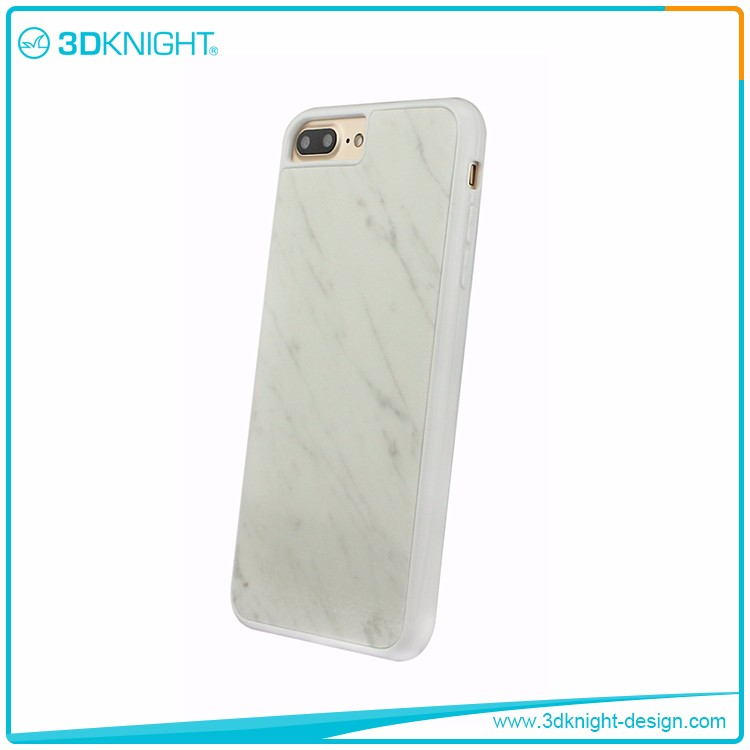 3DKnight Nature White Real Marble Cell Phone Case For Iphone 6 6s 7 7 plus Case Design
