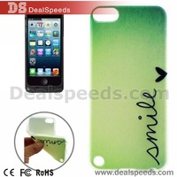 Concise Style Words Pattern TPU Protective Case for iPod Touch 5