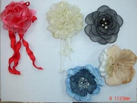 Custom fabric flower pin for wedding party/brooch