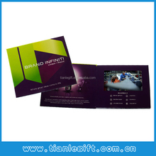 Super slim Digital Advertising Video Greeting Card,business gift card
