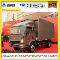 hot sale Sinotruk light ethiopia truck in cargo box