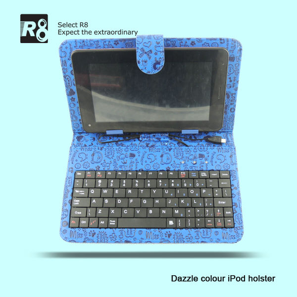 8 Inch Tablet PC Leather Keyboard Case