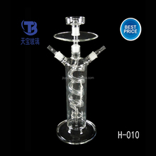 glass hookah shisha with led