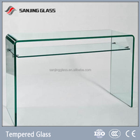 Tempered table tinted glass