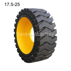 china tyre manufacturer 385/65-D22.5 solid tyre for bobcat skidsteer/industrial/otr/truck accessory/mini wheel loader