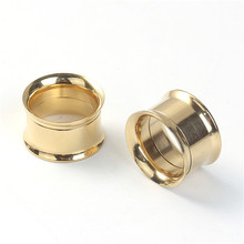 16mm Stainless Steel Stretcher Bobbin Gold Plated Wholesale Ear Expander Piercing