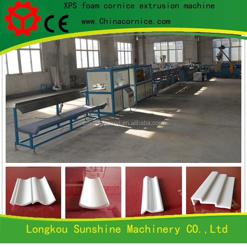 High capacity Decorative XPS design cove cornice extrusion machine