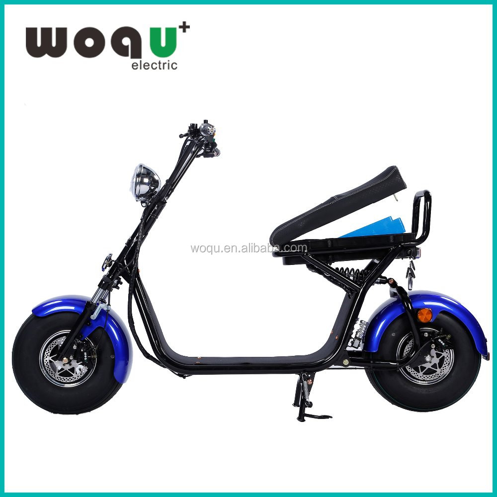 2017 WOQU 50-100km Range Per Charge 1200w 72v12ah Battery Citycoco electric harley motorcycle