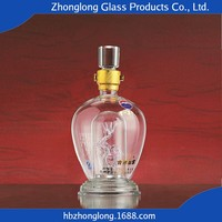 New Products Fashion Design Transparent Rum Glass Wine Bottle
